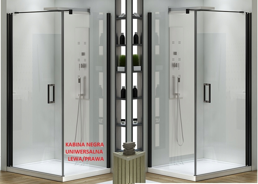 Kabina Prysznicowa 80x100 Czarna