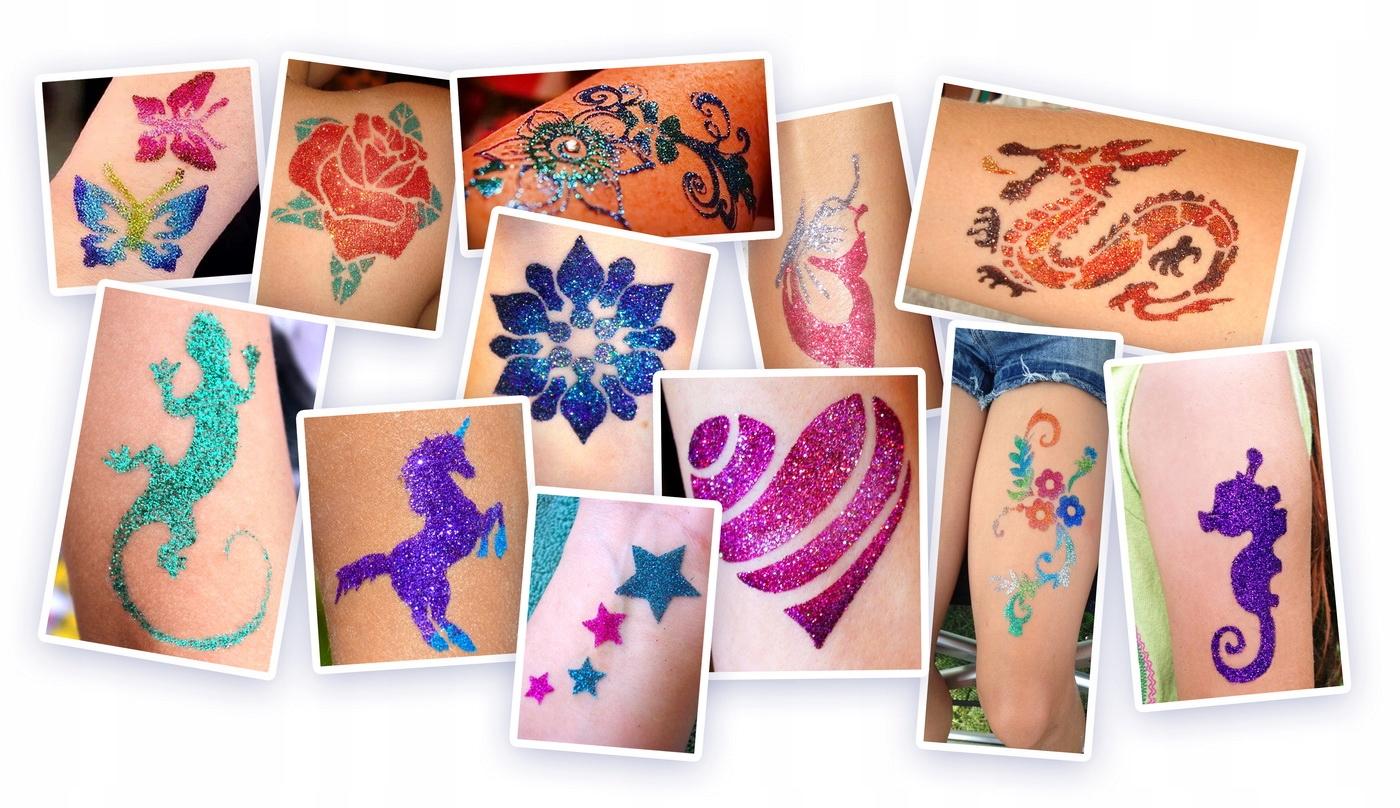 Klej Do Ciała Glitter Tattoo Błyszczący Tatuaż 16
