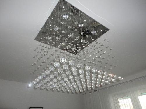 żyrandol Salonowy Zwis Kryształki Klatka Schodowa