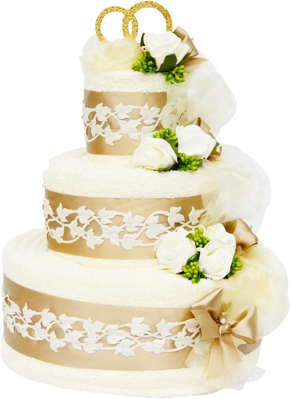 Bardzo dobry Tort z 4 GRUBYCH ręczników PREZENT na ślub ŚLUBNY 5331324674 MB59