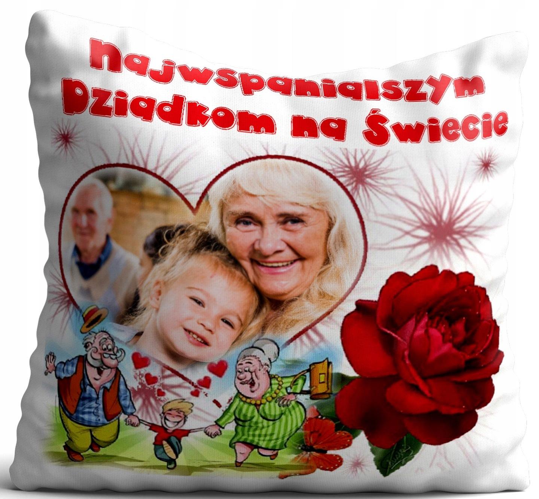 Poduszka Ze Zdjęciem Prezent Dzień Babci I Dziadka