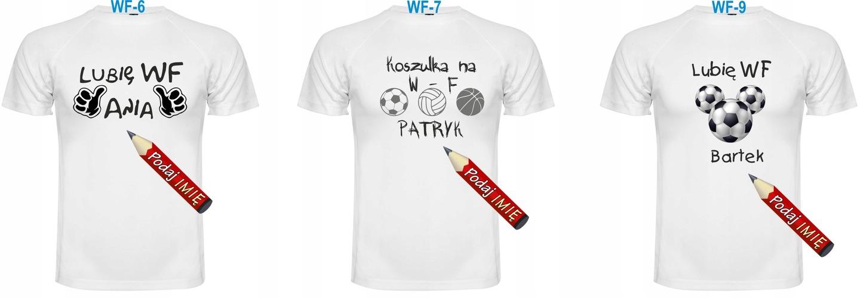 ca8b083b6 Koszulka wykonana ze specjalnie oddychającej tkaniny idealnej do wszelkiej  aktywności fizycznej i zabaw dla dziecka z imieniem i nadrukiem związanym z  W-F.