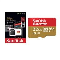 KARTA SANDISK EXTREME microSDXC 32GB 100mb/sC10 U3