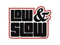 Naklejka na auto , wlepki , Low and Slow , naklejk