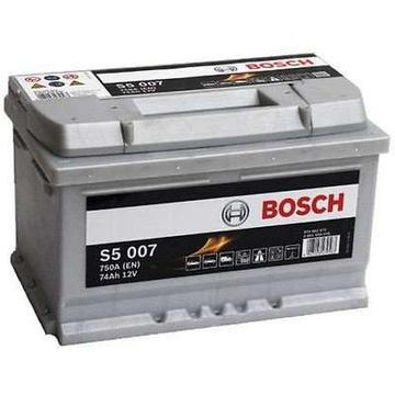 akumulator bosch silver s5 74 ah 750a p+