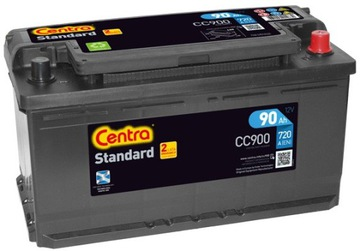 аккумулятор centra стандарт cc900 90ah 720a p+ - фото