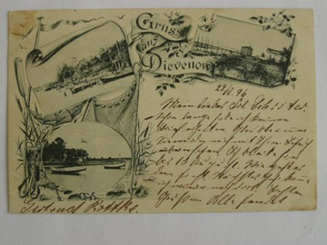 Dziwnów Dievenow Vorlaufer 27.7.1896 доставка товаров из Польши и Allegro на русском