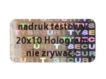 ПЛОМБЫ ГАРАНТИЙНЫЕ STICKERY 20x10 ГОЛОГРАММА 1000ШТ доставка товаров из Польши и Allegro на русском