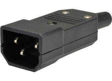 Штекер компьютерный AC IEC 3 pin IEC320 C14 ИБП доставка товаров из Польши и Allegro на русском