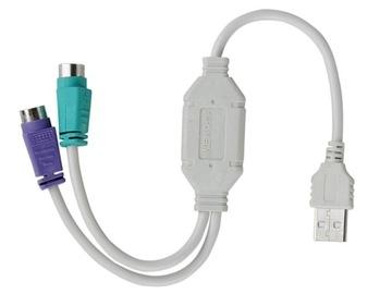 АДАПТЕР USB - КЛАВИАТУРА и МЫШЬ PS/2 - PS2 к USB доставка товаров из Польши и Allegro на русском