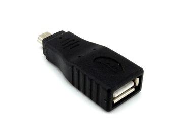 (Адаптер Переходник USB-mini USB разъем-штекер) доставка товаров из Польши и Allegro на русском
