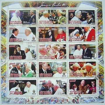 Папа римский ИОАНН ПАВЕЛ II 2012 arkusik чистый (**) #186 доставка товаров из Польши и Allegro на русском