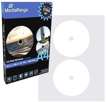 MediaRange Этикетки на CD/DVD/BRD A4 100шт ГЛЯНЦЕВАЯ доставка товаров из Польши и Allegro на русском
