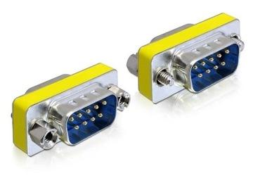 Delock adapter wtyku RS232 COM SERIAL 9 pin 9M/9M доставка товаров из Польши и Allegro на русском