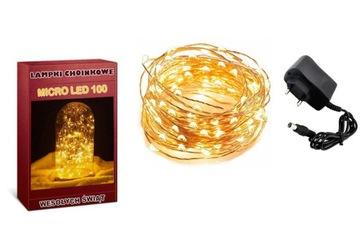 LAMPKI DRUCIKI 100 LED MIKRO NA PRĄD доставка товаров из Польши и Allegro на русском