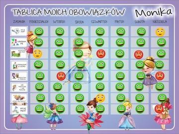Магнитная доска мотивационная обязанности детей доставка товаров из Польши и Allegro на русском