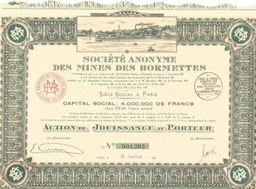 !ШАХТЫ ЦИНКА И СВИНЦА В BORMETTES!КОРИЧНЕВАЯ!1924! доставка товаров из Польши и Allegro на русском