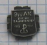 значок 9 полка пехоты АК замосцинский регион доставка товаров из Польши и Allegro на русском