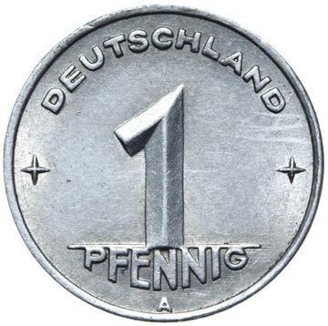 Германия DDR - монета - 1 Pfennig 1949 Года, А - БЕРЛИН доставка товаров из Польши и Allegro на русском