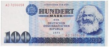 Германия - DDR - КУПЮРА - 100 Марок 1975 - МАРКС доставка товаров из Польши и Allegro на русском
