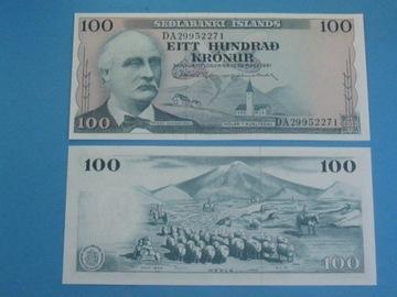 Исландия Банкнота 100 Kronur 1961 UNC P-44 Овцы доставка товаров из Польши и Allegro на русском
