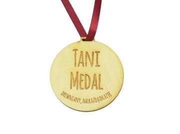 Дешево медаль Медали деревянные гравер Ваш ТЕКСТ доставка товаров из Польши и Allegro на русском