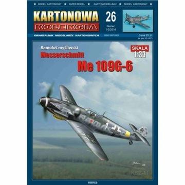 Kartonowa Коллекция Из 26 - Самолет Me-109 G-6 1:33 доставка товаров из Польши и Allegro на русском