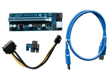 Лента Riser USB3.0 PCI-E PCI 1x-16x 6PIN SATA 009S доставка товаров из Польши и Allegro на русском