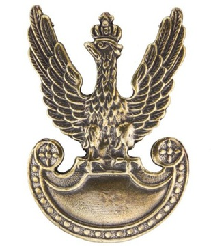 Veľký pin s orol vzor 1919 3 farby rogatka