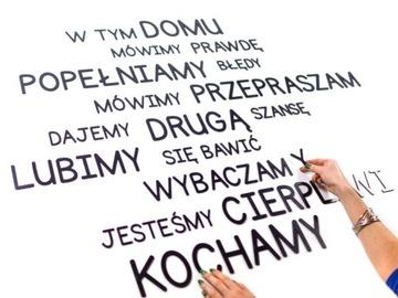 3D nápisy slová Vaše písmená na stene 3-9 cm