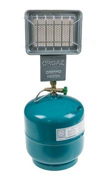 Plynový ohrievač chladiča pre rybárov