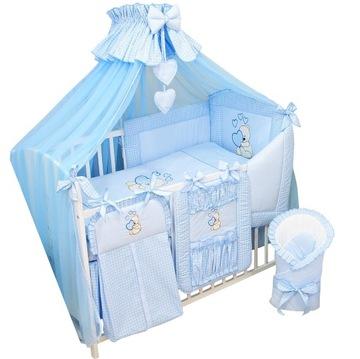13el. Obliečka na matrac do postieľky Canopy BLUE