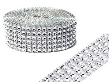 Ремень DIAMOND TAPE с фианитом 3 см 4,5 метра