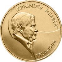 Монета 2 злотых Збигнев Герберт