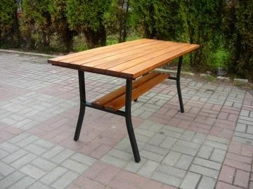 Садовый стол S7, стальные ножки, столешница на каркасе Masiv
