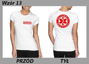 Koszulka POLICJA OCHRONA damska w T shirty damskie Moda