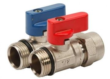Клапан 1/2 x 16 мм с фитингом Pex для коллектора
