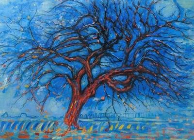 Obraz Olejny Czerwone Drzewo Piet Mondrian 7579590359 Oficjalne Archiwum Allegro