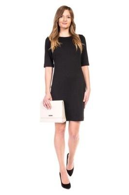 5f7cf316f1 KappAhl czarna sukienka z wiązaniem - 7463191356 - oficjalne ...