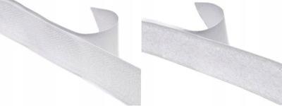 лента липучка липучка самоклеящаяся 20мм - Белый