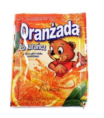 Oranżada w proszku Pomarańczowa z Misiem 10szt