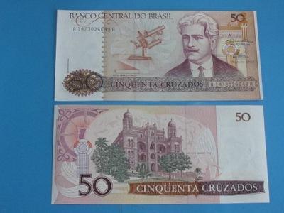 Бразилия Банкнота 50 Cruzados  - ! P-210 1986 UNC