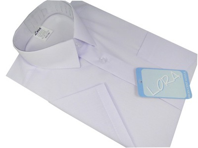 Koszula chłopięca wizytowa biała krótki rękaw 110