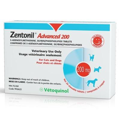 VETOQUINOL Zentonil 200 mg - na wątrobę 30 tabl