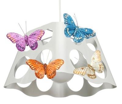 Svietidlá do detskej komora je ZAUJÍMAVÝ prívesok Lampa WHITE BUTTERFLY - môžete LED