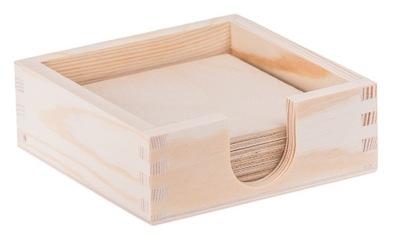 коробка + 8 штук шайбы декупаж Дерево эко