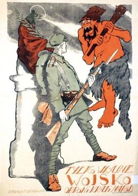 Plakat propagandowy - TYLKO WŁASNE WOJSKO OBRONI