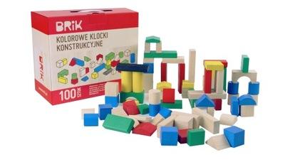 Polskie Klocki kolorowe konstrukcyjne 100szt Brik