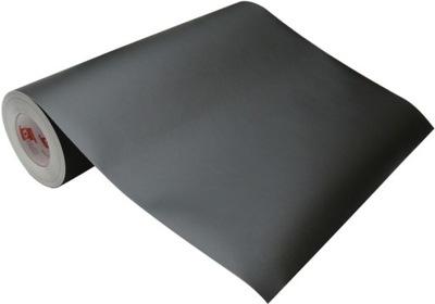 Folia samoprzylepna czarna matowa wys. 50cm TŁO