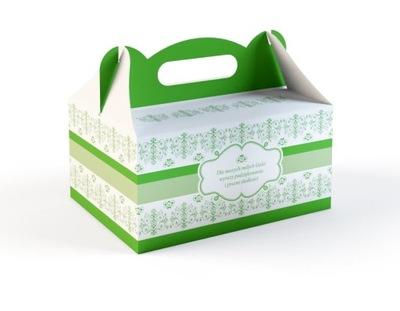 50x Pudełko na Ciasto Tort Opakowanie Zielone Ślub